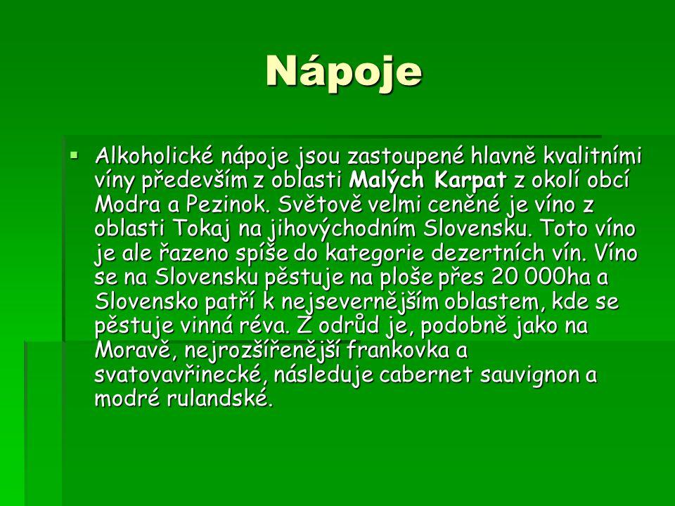 Nápoje