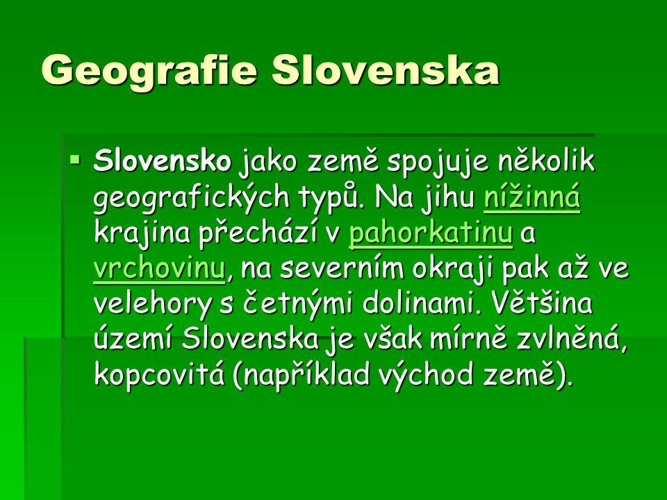 Geografie Slovenska