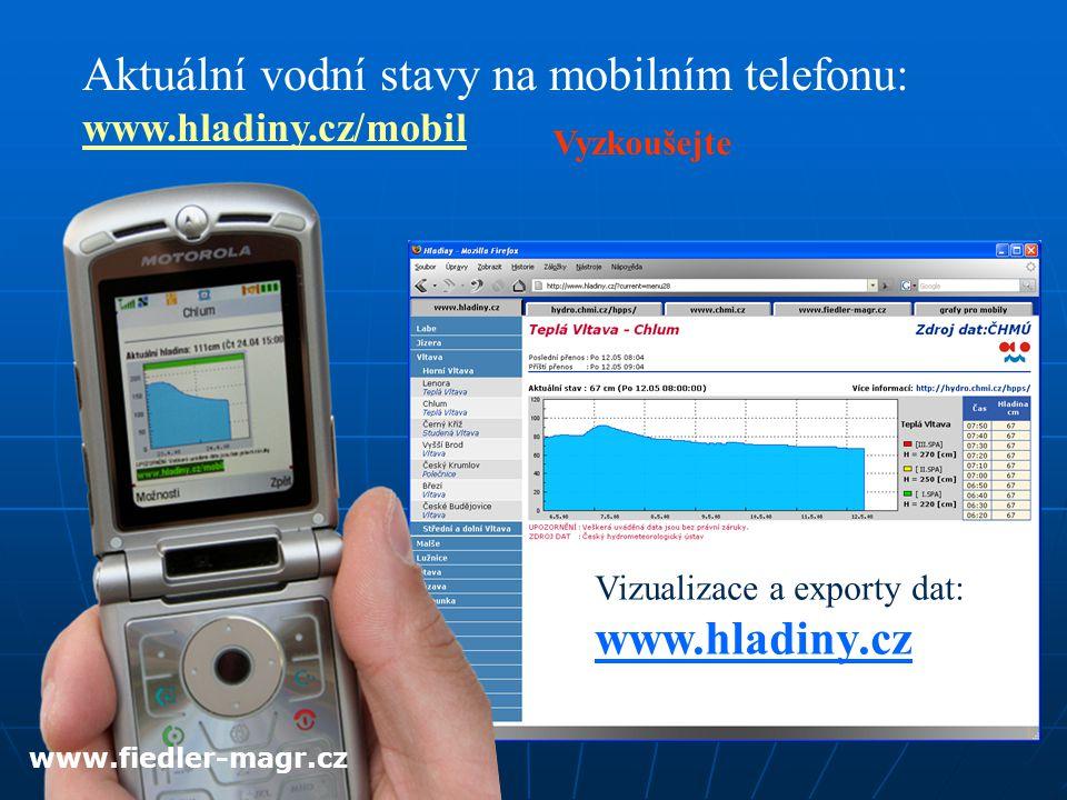 Aktuální vodní stavy na mobilním telefonu: www.hladiny.cz/mobil
