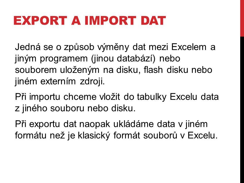 Export a import dat