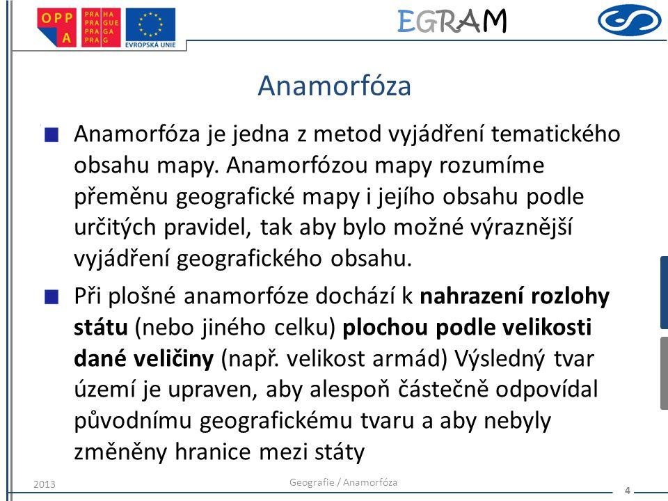 Geografie / Anamorfóza