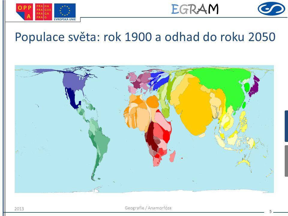 Populace světa: rok 1900 a odhad do roku 2050