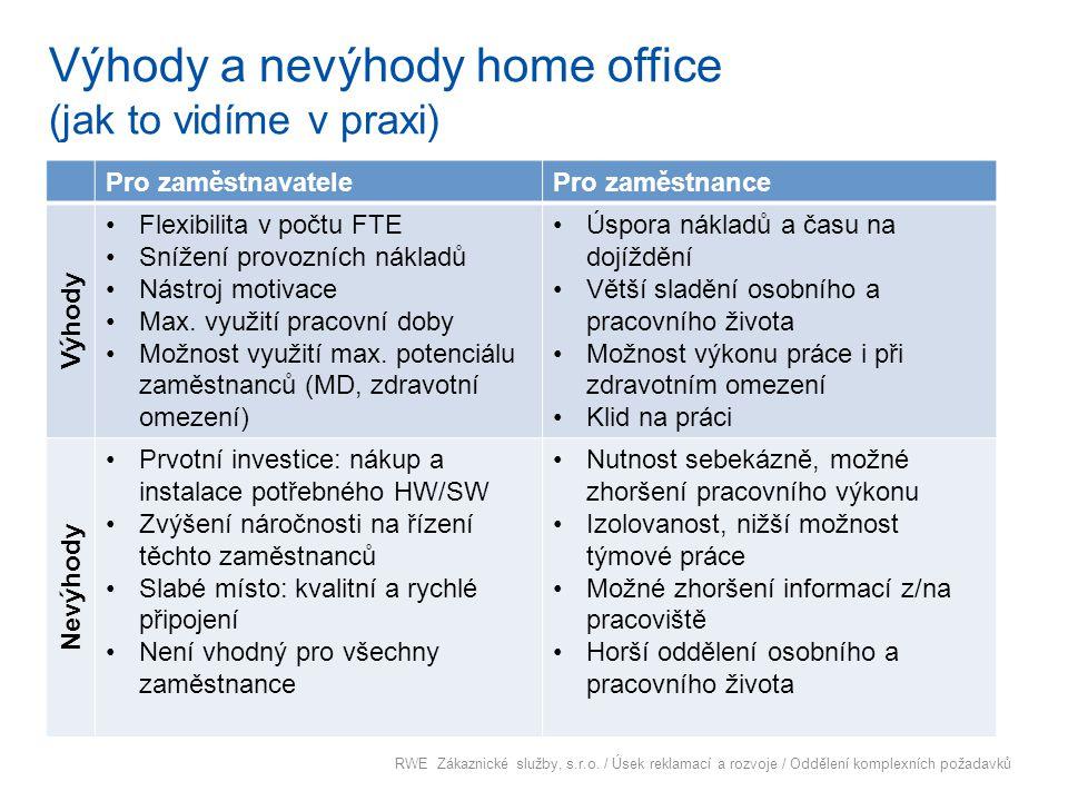 Výhody a nevýhody home office