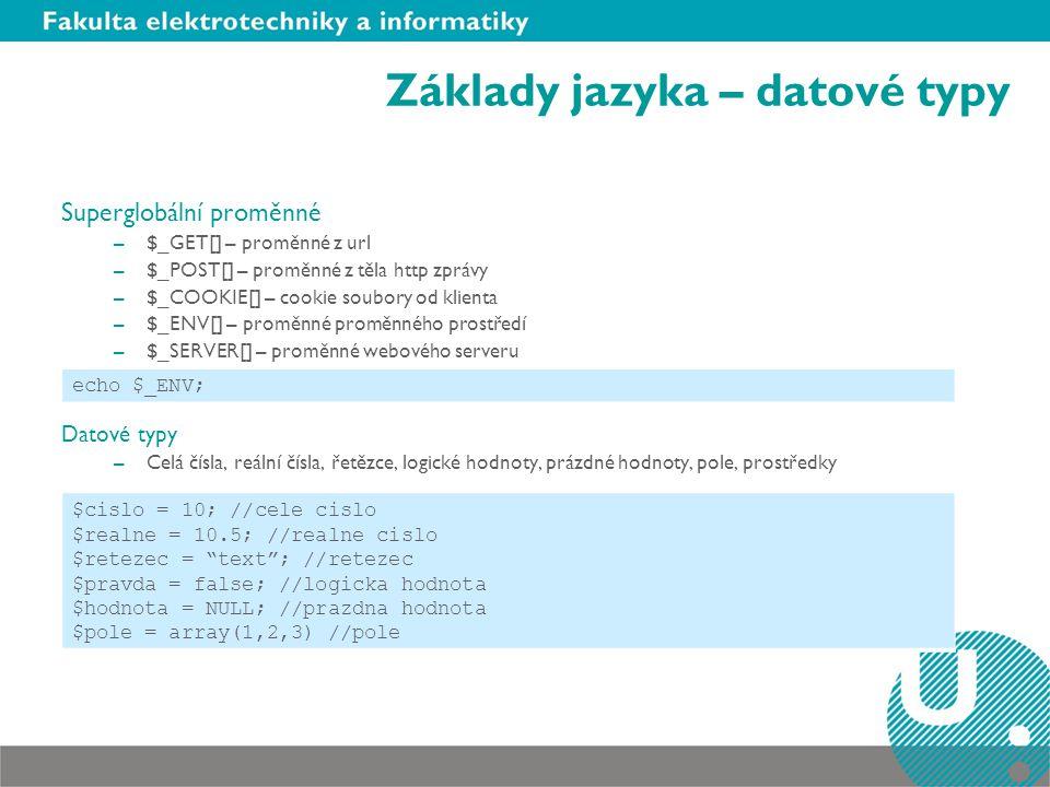 Základy jazyka – datové typy