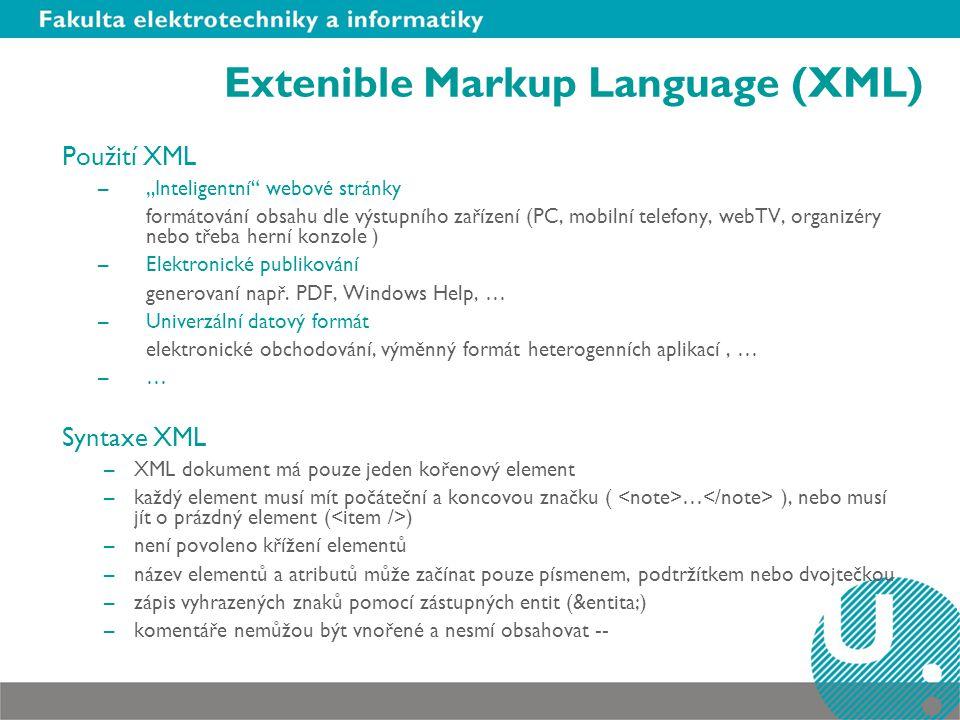 Extenible Markup Language (XML)