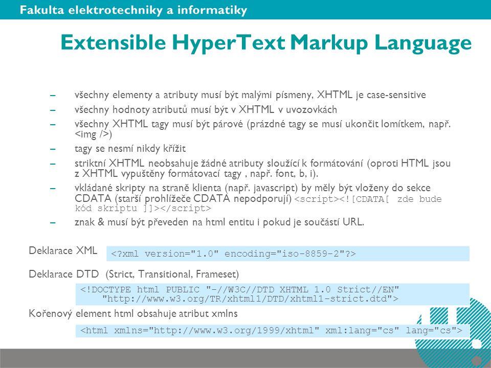 Extensible HyperText Markup Language
