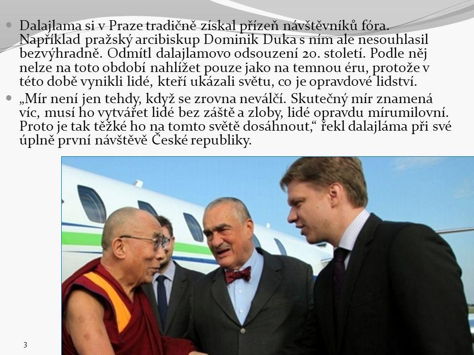 Dalajlama si v Praze tradičně získal přízeň návštěvníků fóra