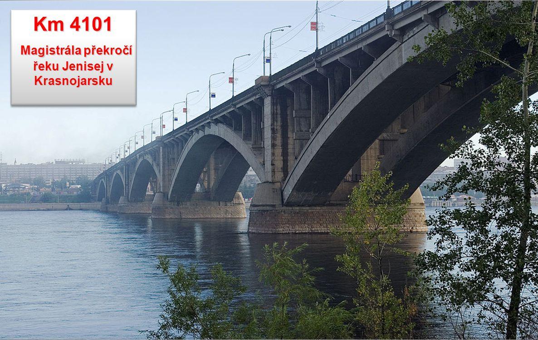 Magistrála překročí řeku Jenisej v Krasnojarsku