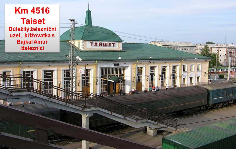 Důležitý železniční uzel, křižovatka s Bajkal Amur lželeznicí