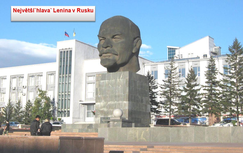 Největší`hlava` Lenina v Rusku