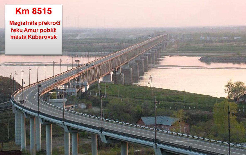 Magistrála překročí řeku Amur poblíž města Kabarovsk