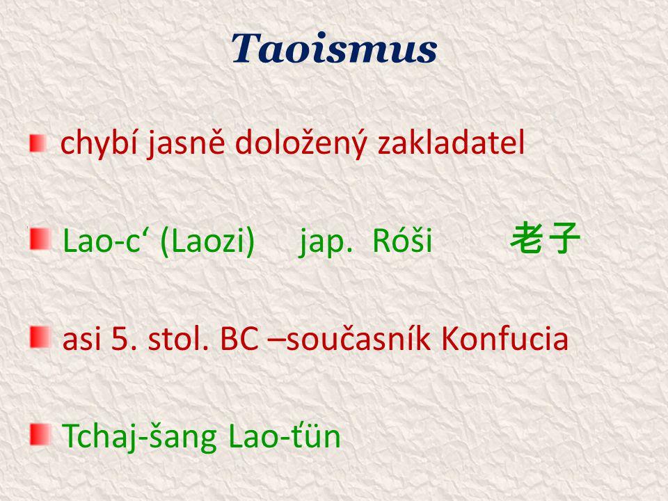 Taoismus Lao-c' (Laozi) jap. Róši 老子