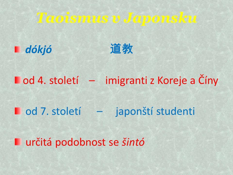 Taoismus v Japonsku od 4. století – imigranti z Koreje a Číny