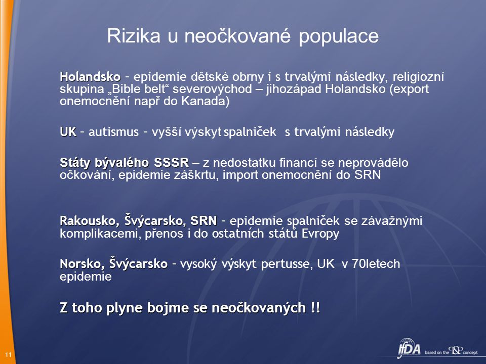 Rizika u neočkované populace