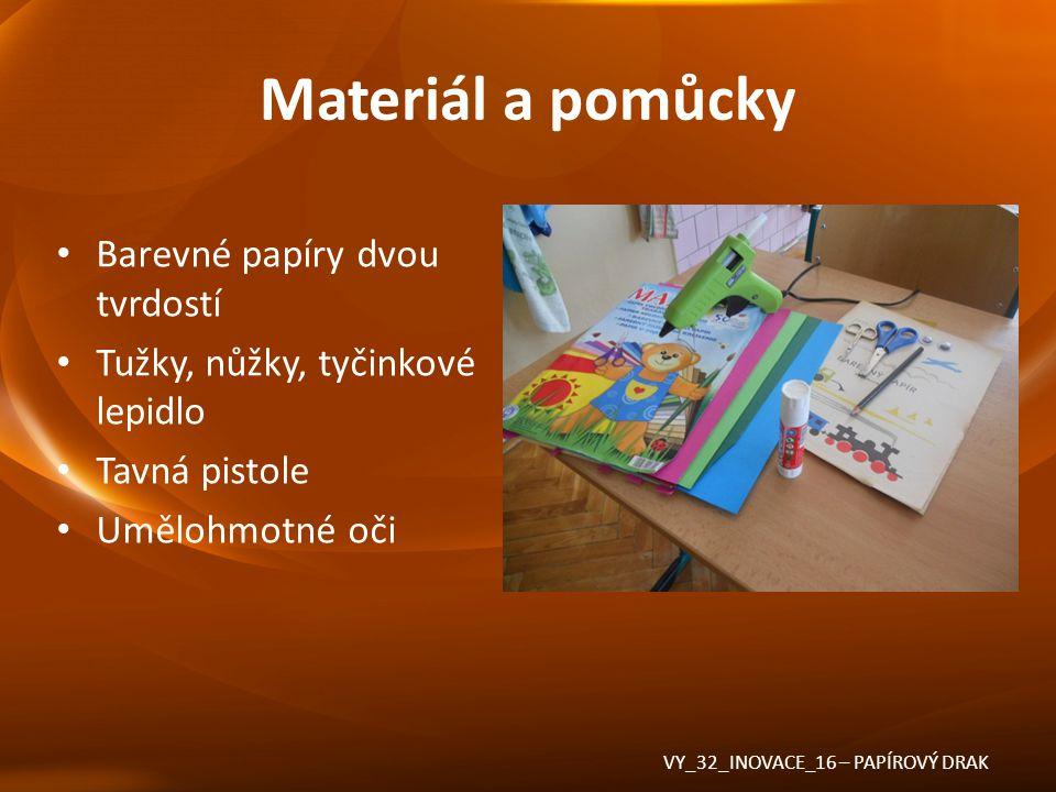 Materiál a pomůcky Barevné papíry dvou tvrdostí