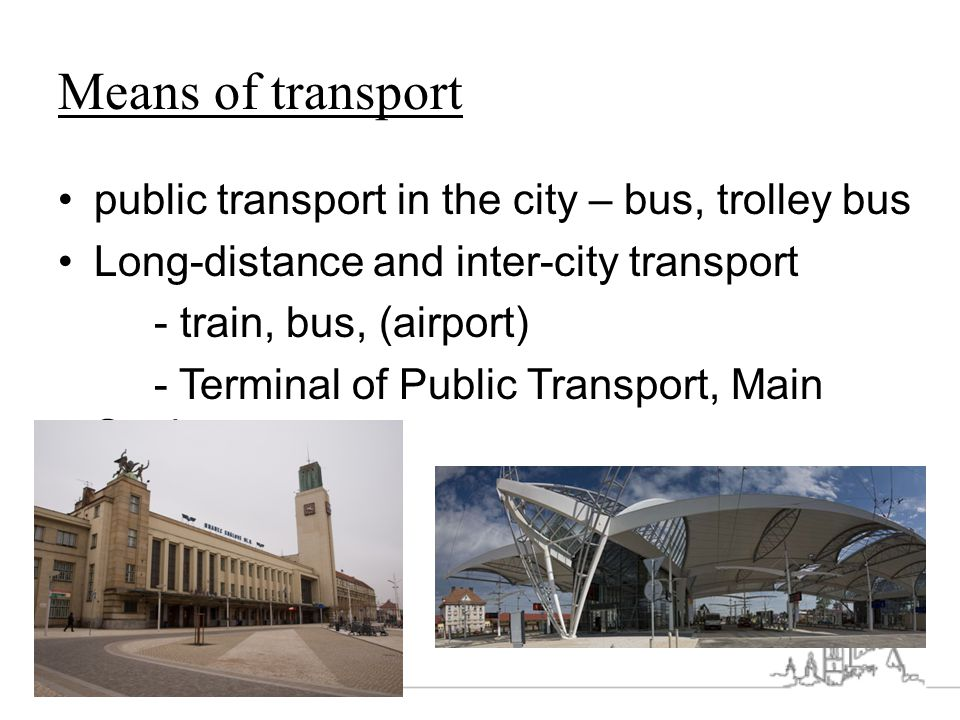 Means of transport public transport in the city – bus, trolley bus