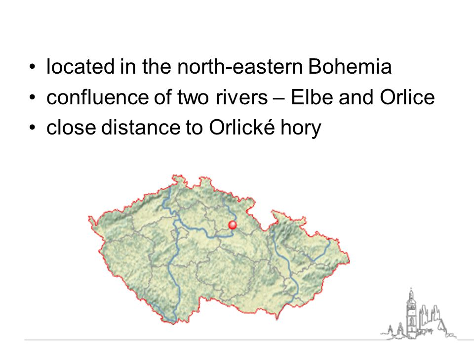 located in the north-eastern Bohemia