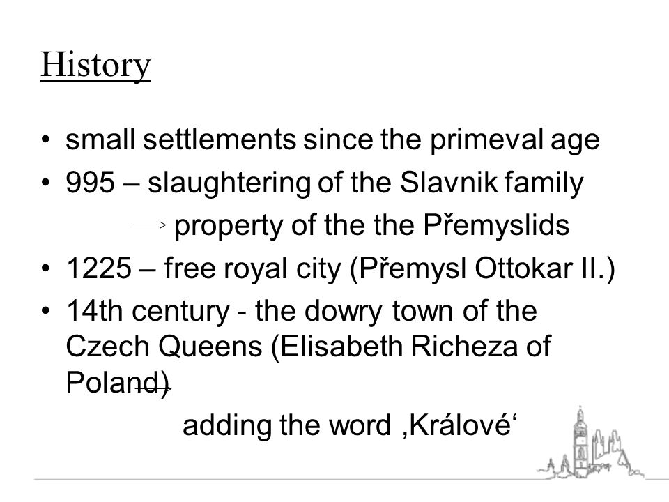 History small settlements since the primeval age