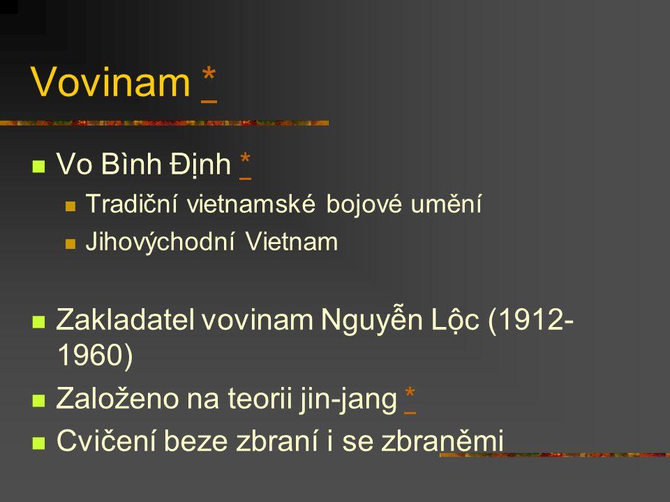 Vovinam * Vo Bình Định * Zakladatel vovinam Nguyễn Lộc (1912-1960)