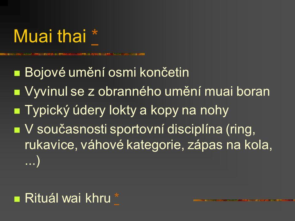 Muai thai * Bojové umění osmi končetin