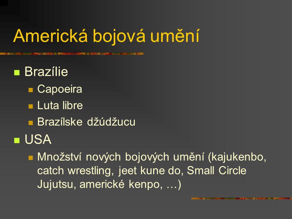 Americká bojová umění Brazílie USA Capoeira Luta libre
