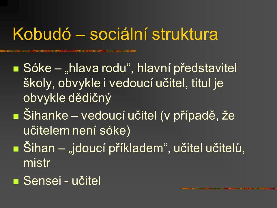 Kobudó – sociální struktura