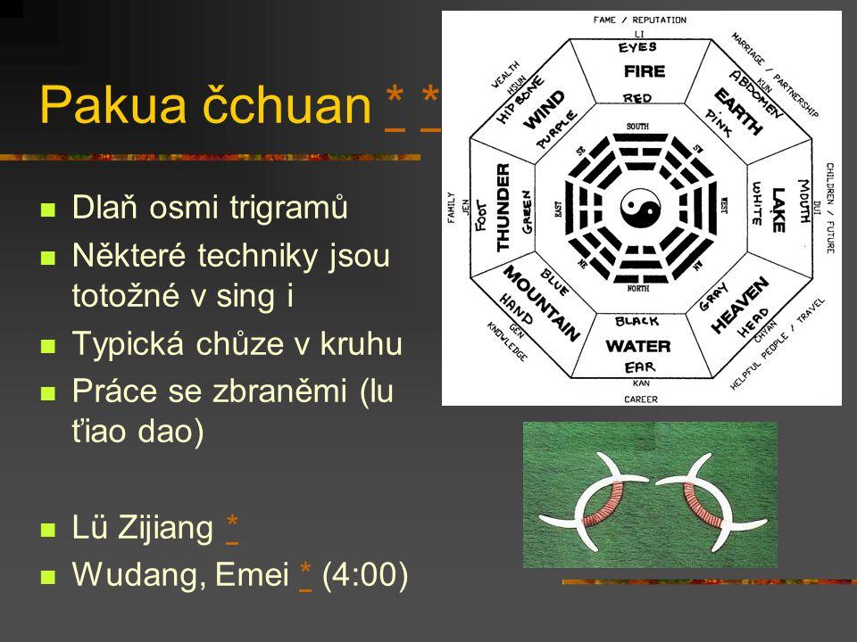 Pakua čchuan * * Dlaň osmi trigramů