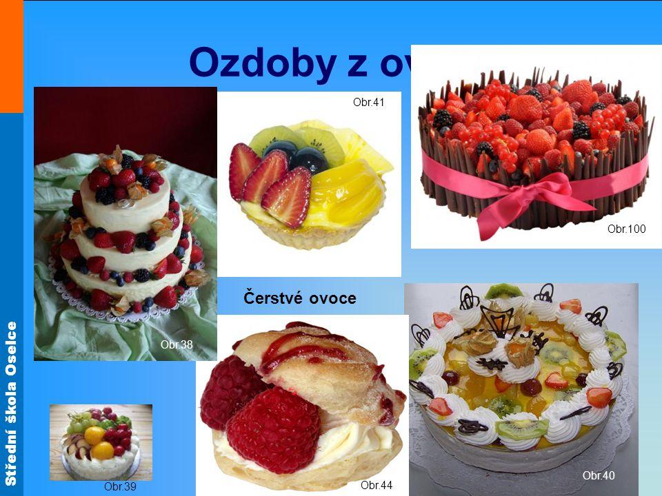 Ozdoby z ovoce Čerstvé ovoce Obr.41 Obr.100 Obr.38 Obr.40 Obr.39