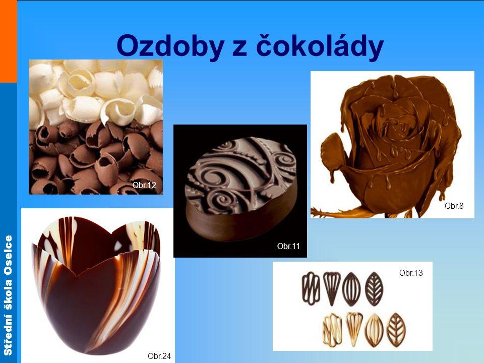 Ozdoby z čokolády Obr.12 Obr.8 Obr.11 Obr.24 Obr.13