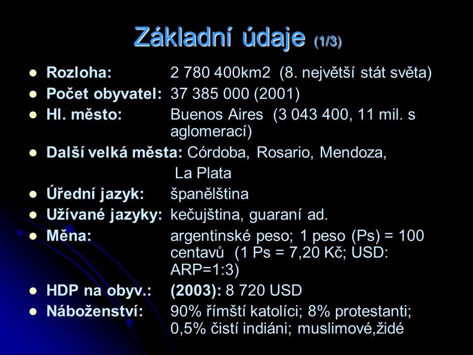 Základní údaje (1/3) Rozloha: 2 780 400km2 (8. největší stát světa)