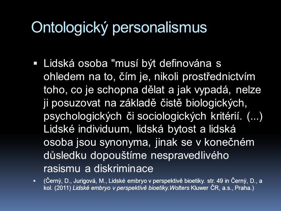 Ontologický personalismus