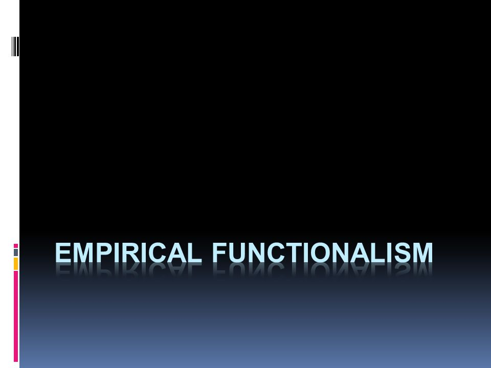 empirical functionalism