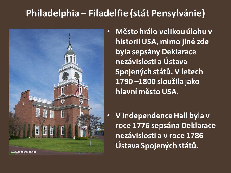 Philadelphia – Filadelfie (stát Pensylvánie)