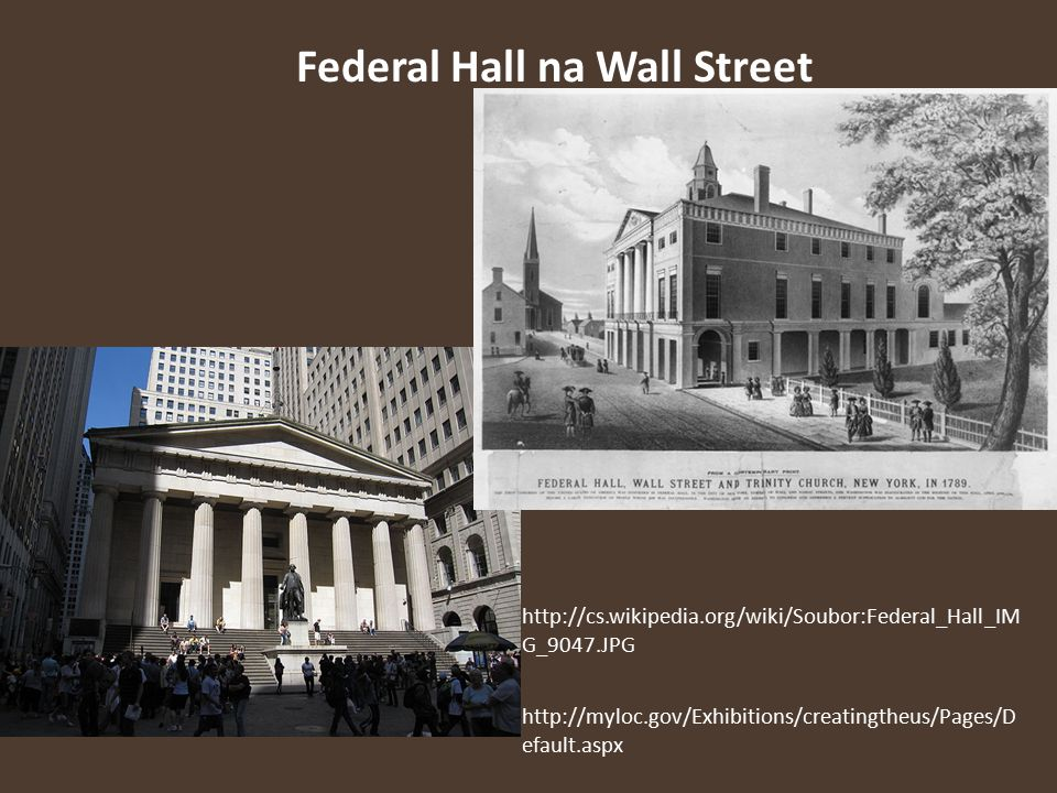 Federal Hall na Wall Street