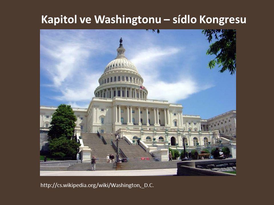 Kapitol ve Washingtonu – sídlo Kongresu