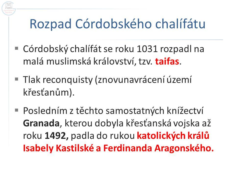 Rozpad Córdobského chalífátu