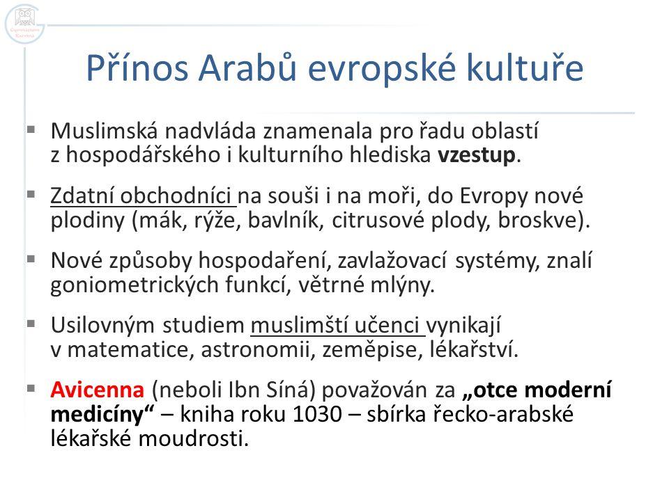Přínos Arabů evropské kultuře