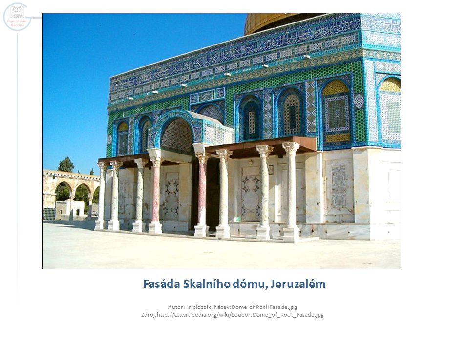 Fasáda Skalního dómu, Jeruzalém