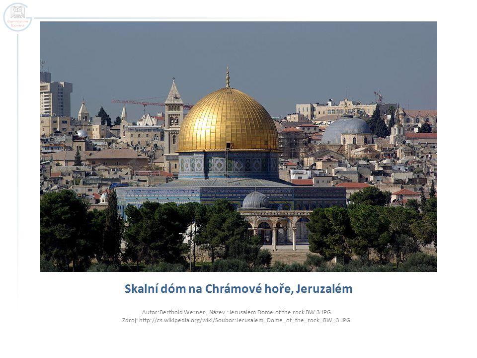 Skalní dóm na Chrámové hoře, Jeruzalém
