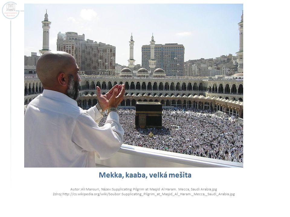 Mekka, kaaba, velká mešita