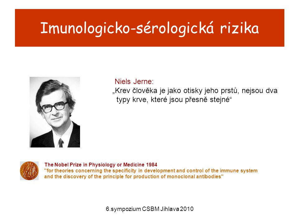 Imunologicko-sérologická rizika