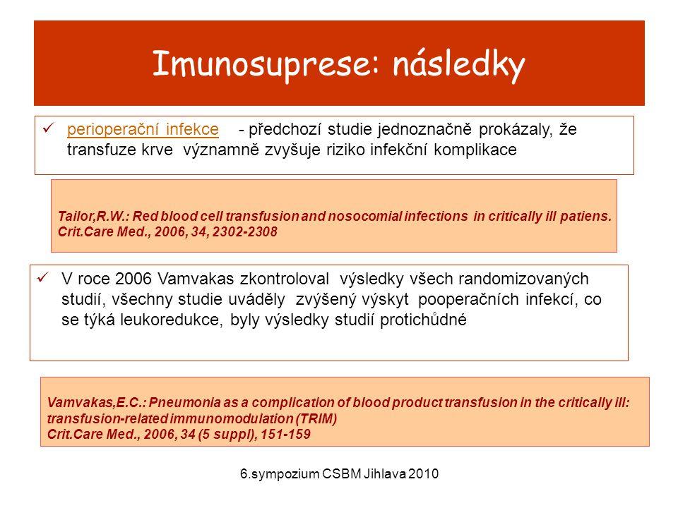 Imunosuprese: následky