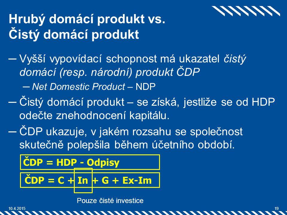 Hrubý domácí produkt vs. Čistý domácí produkt