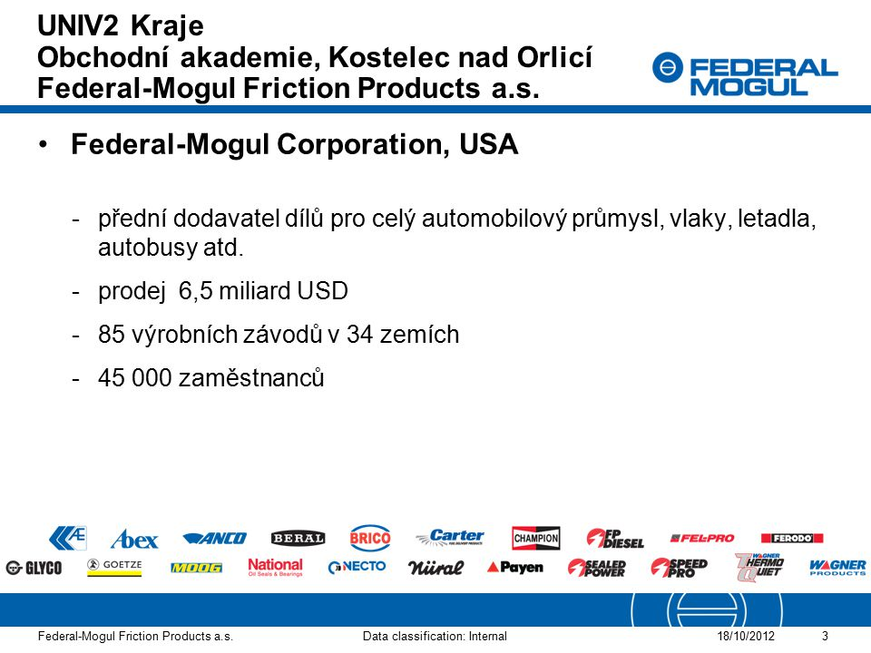 Federal-Mogul Corporation, USA