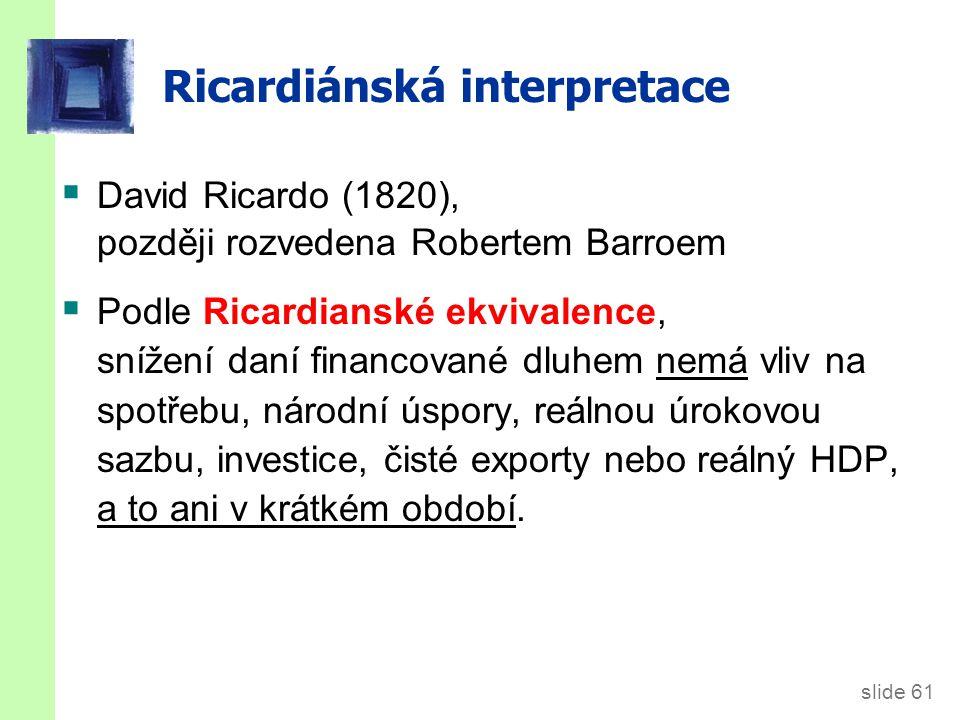 Logika Ricardiánské ekvivalence