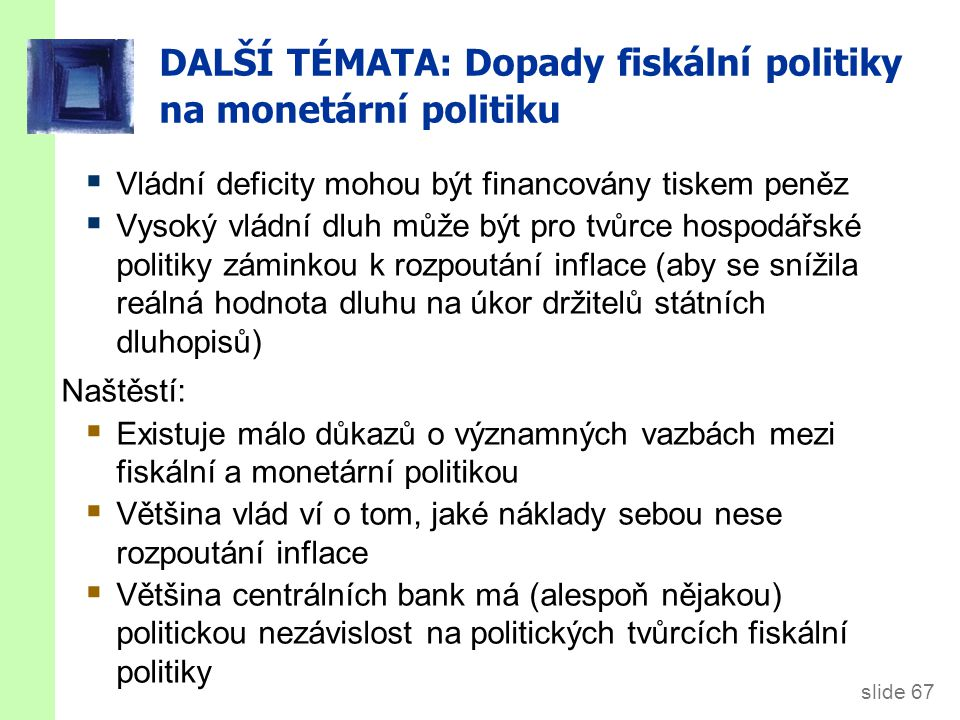 DALŠÍ TÉMATA: Dluh a politika