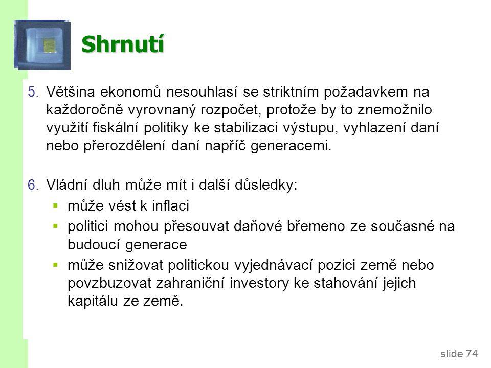 Literatura Mankiw (2010): Chapter 16: Government Debt and Budget Deficits. Holman (2010): Kapitola 17: Veřejné rozpočty.
