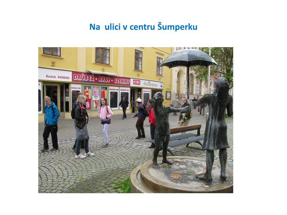Na ulici v centru Šumperku