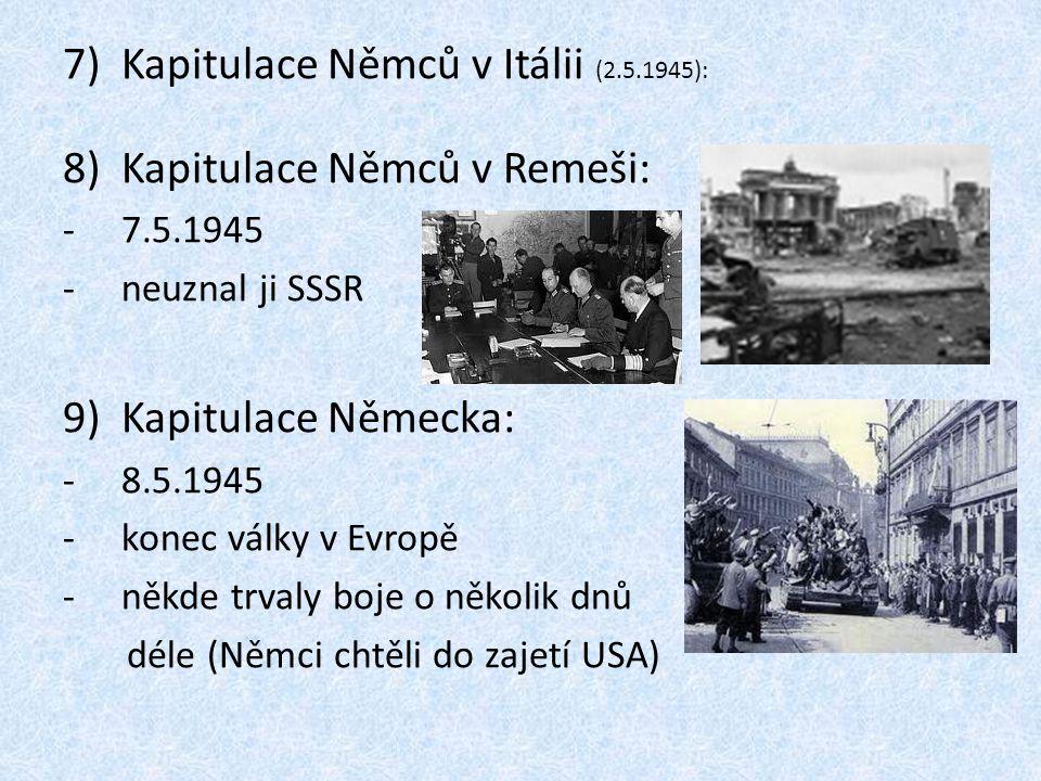 Kapitulace Němců v Itálii (2.5.1945): Kapitulace Němců v Remeši: