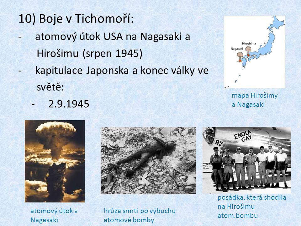 Boje v Tichomoří: atomový útok USA na Nagasaki a Hirošimu (srpen 1945)
